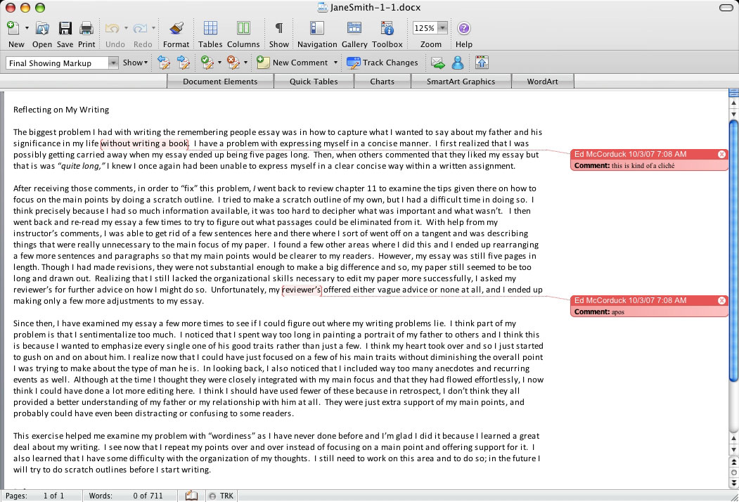 how to close comments in word